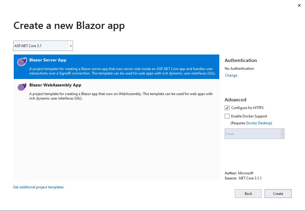 Blazor Server or Blazor WebAssembly app