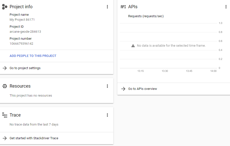 Create a Project in Google Cloud Platform