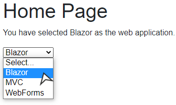 OnChange in a Select Dropdown in a Blazor Server Application