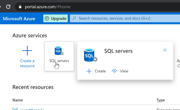 Create a SQL Server in Azure