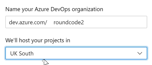 Create an Organisation in Azure