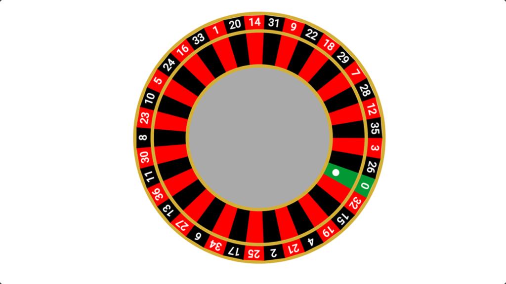 A roulette wheel written in C# for game development in Blazor WebAssembly
